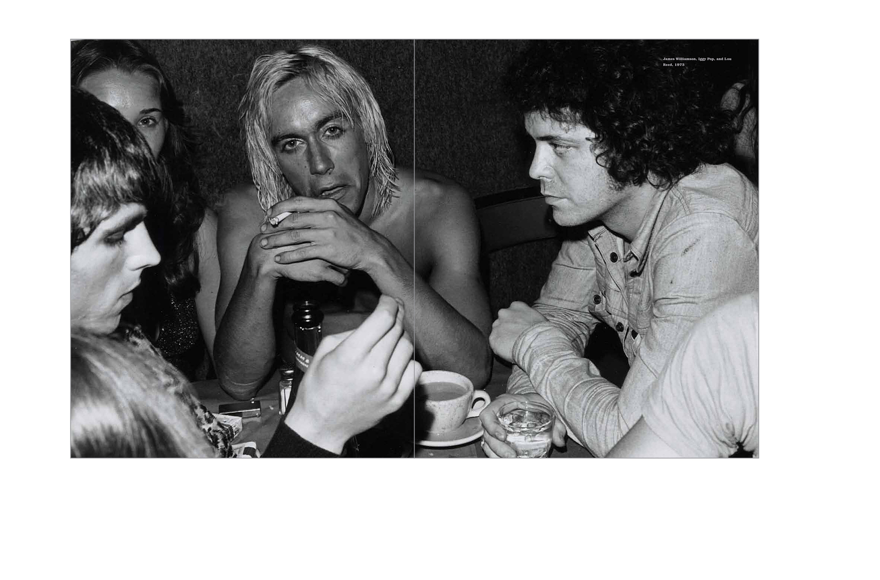 Typical spread -  Two-page image, Iggy Pop and Lou Reed