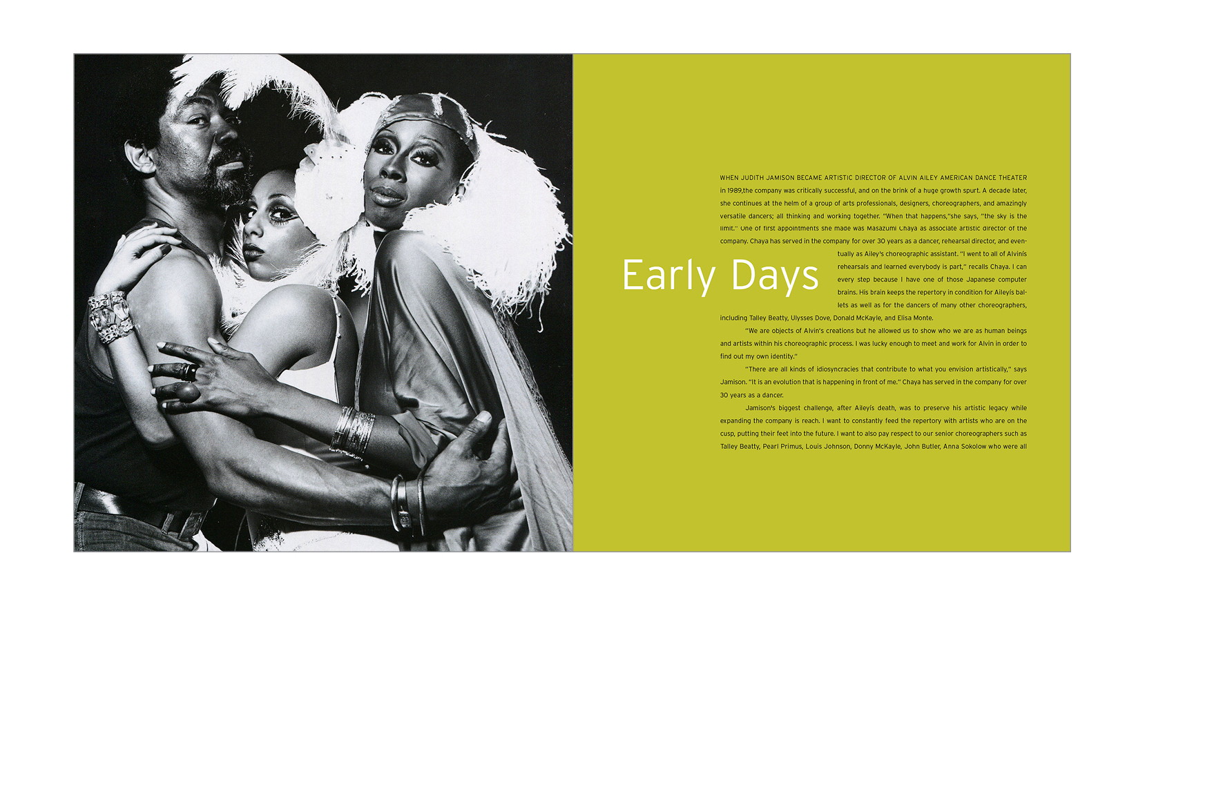 Chapter opener -  The book features behind-the-scenes shots and archival photos by masters of dance photography