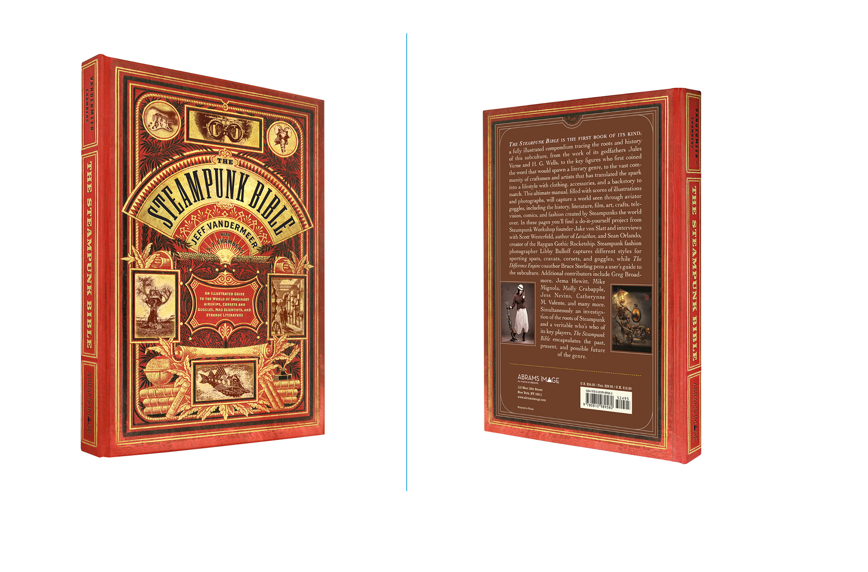 The Steampunk Bible -  7 X 10 in., 224 pg., hardcover with spot uv. Design; Galen Smith // Publisher; Abrams Image