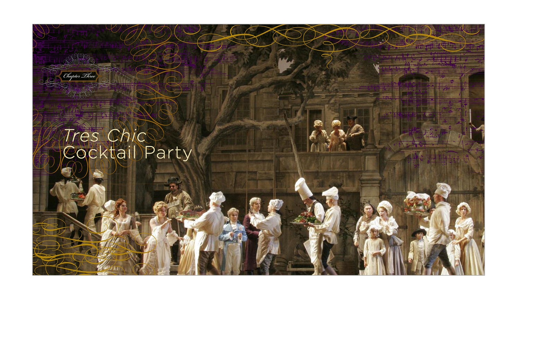 Chapter opener -  All openers featured large-scale scenes from Metropolitan Opera performances