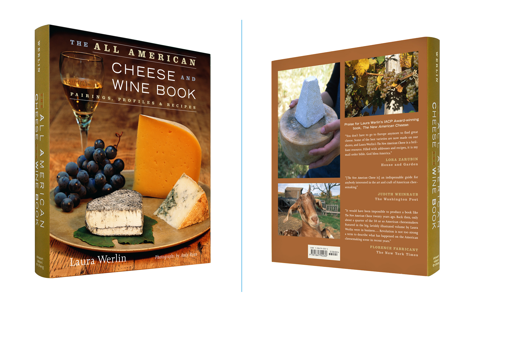 The All American Cheese and Wine Book -  8 X 9.5 in., 336 pg., hardcover with spot uv. Design; Galen Smith, Allyson McFarlane // Publisher; Stewart, Tabori & Chang