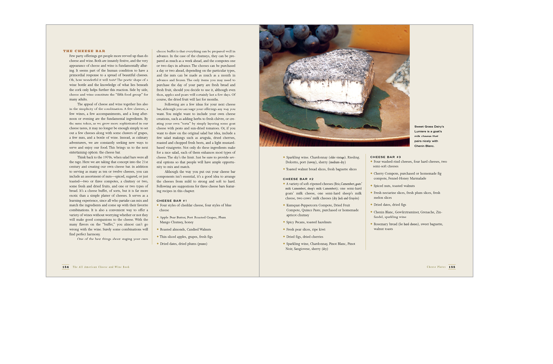 Two page sidebar -  Special topic, groupings of large cheese selections