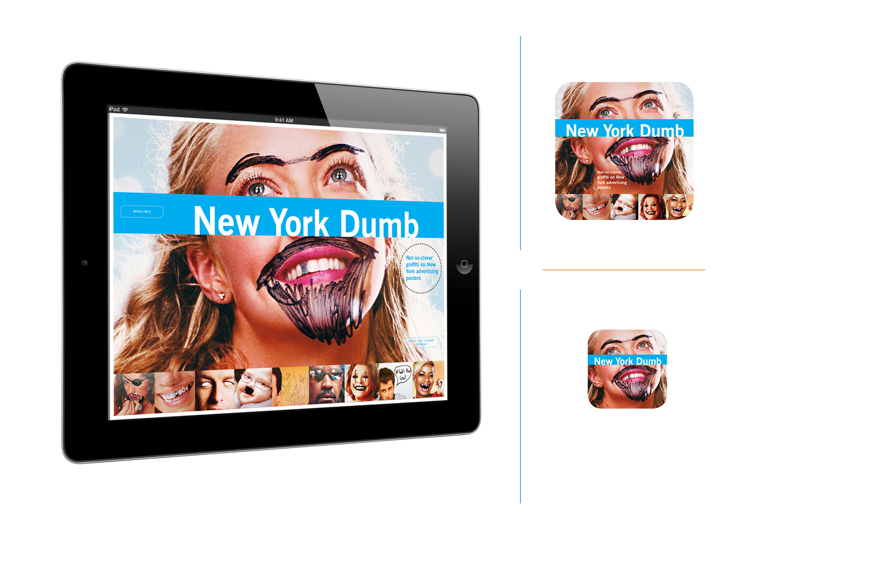 New York Dumb -  Apple iPad book app. Design and photography; Galen Smith // Publisher; Hardscrabble Projects