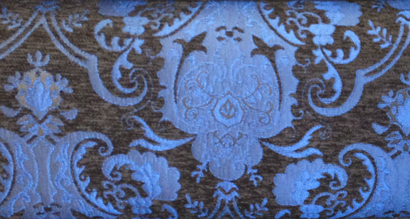 Blue and Black Standard Chenille