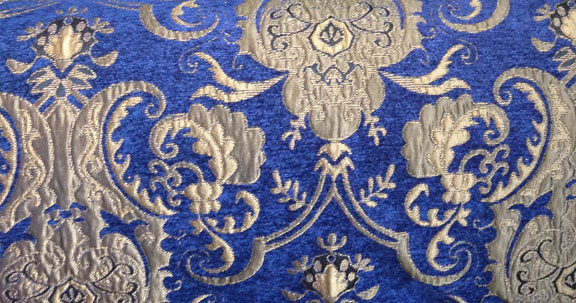 Blue and Gold Standard Chenille