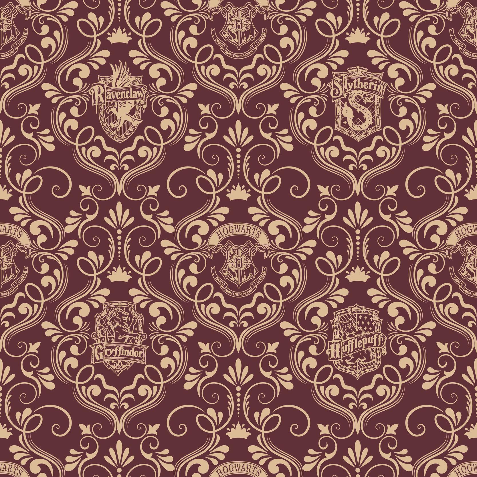 Harry Potter damask burgundy