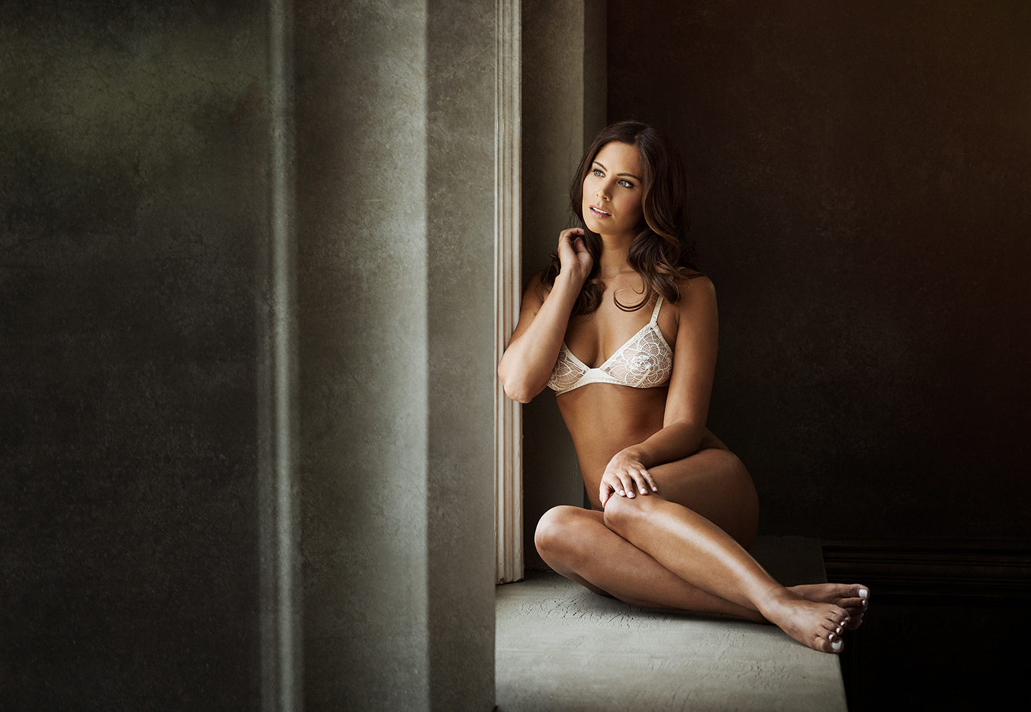Emma Harris Luxury Lingerie editorial photoshoot by Karl Bratby