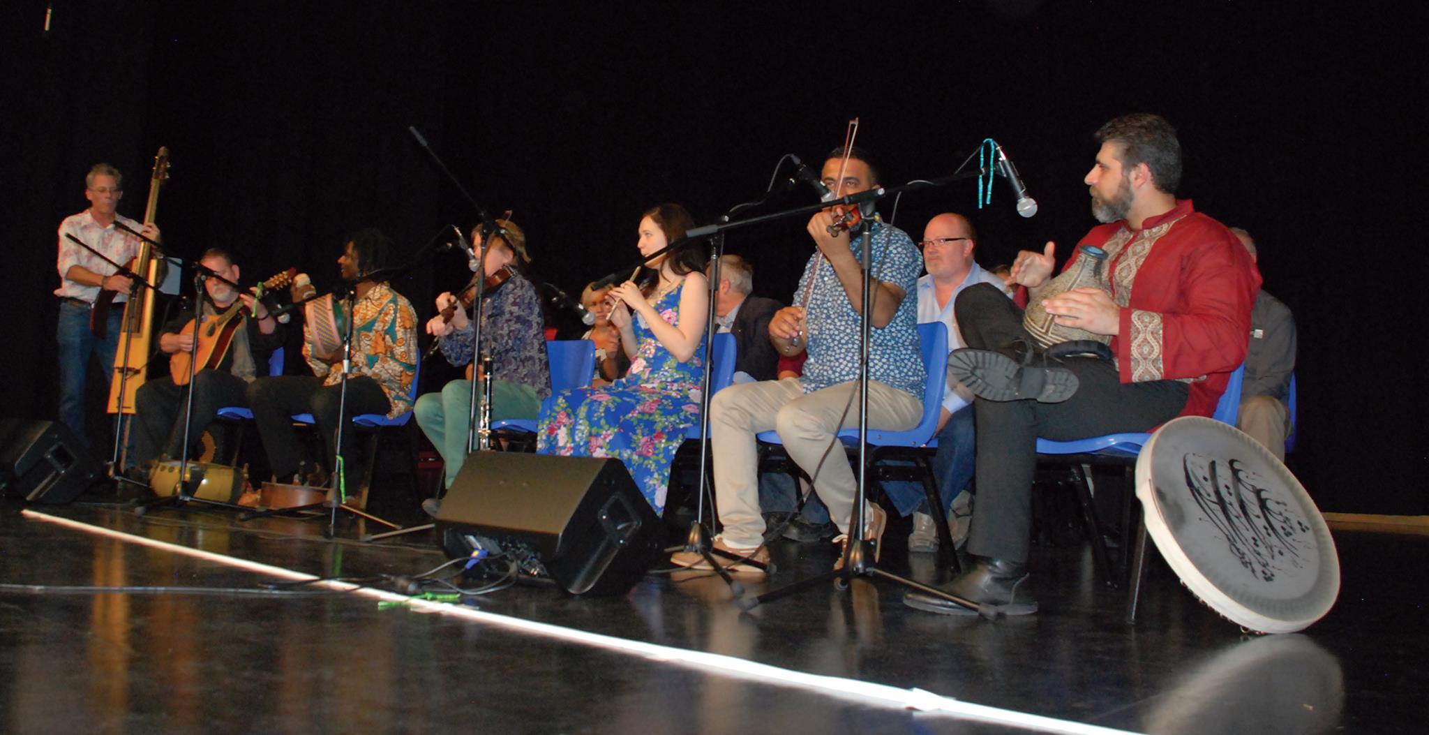 Just some of the members of Ensemble Diaspora!