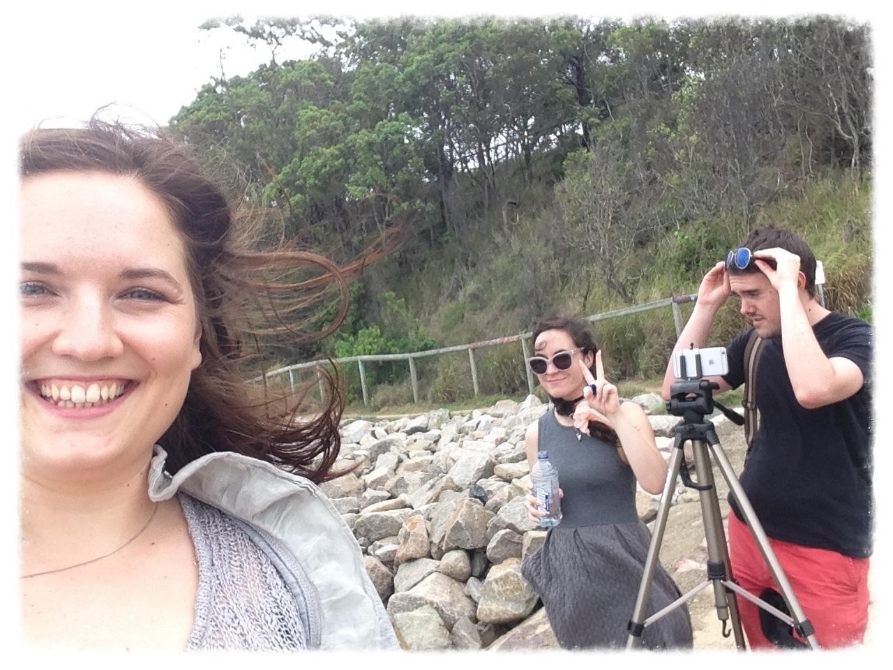 Sneaky team selfie.