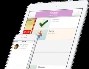 Fjernstyring - MemoAssist kan fjernstyres af din familie eller af plejepersonalet som hjælper dig i din hverdag. Män programmet MemoRemote kan de lægge aktiviteter ind i din MemoAssist og følge med i hvordan det går.