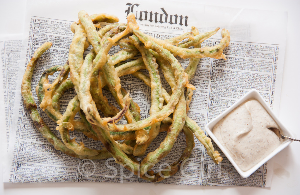Image from my own collection. We also prepared the Crispy yardlong beans with a truffle mayo. Click  here  for the recipe.