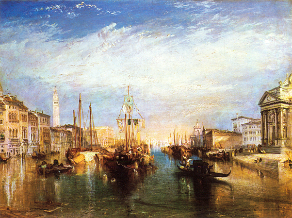"Turner enjoys a reputation as one of the finest and most original landscape painters in English history and Turner's style laid the foundations for Impressionism. Venice was the inspiration for some of Turner's greatest works including this painting entitled  ""The Grand Canal, Venice""  below, painted in 1835. (Oil on canvas, 36 by 48 inches; The Metropolitan Museum of Art, New York)"