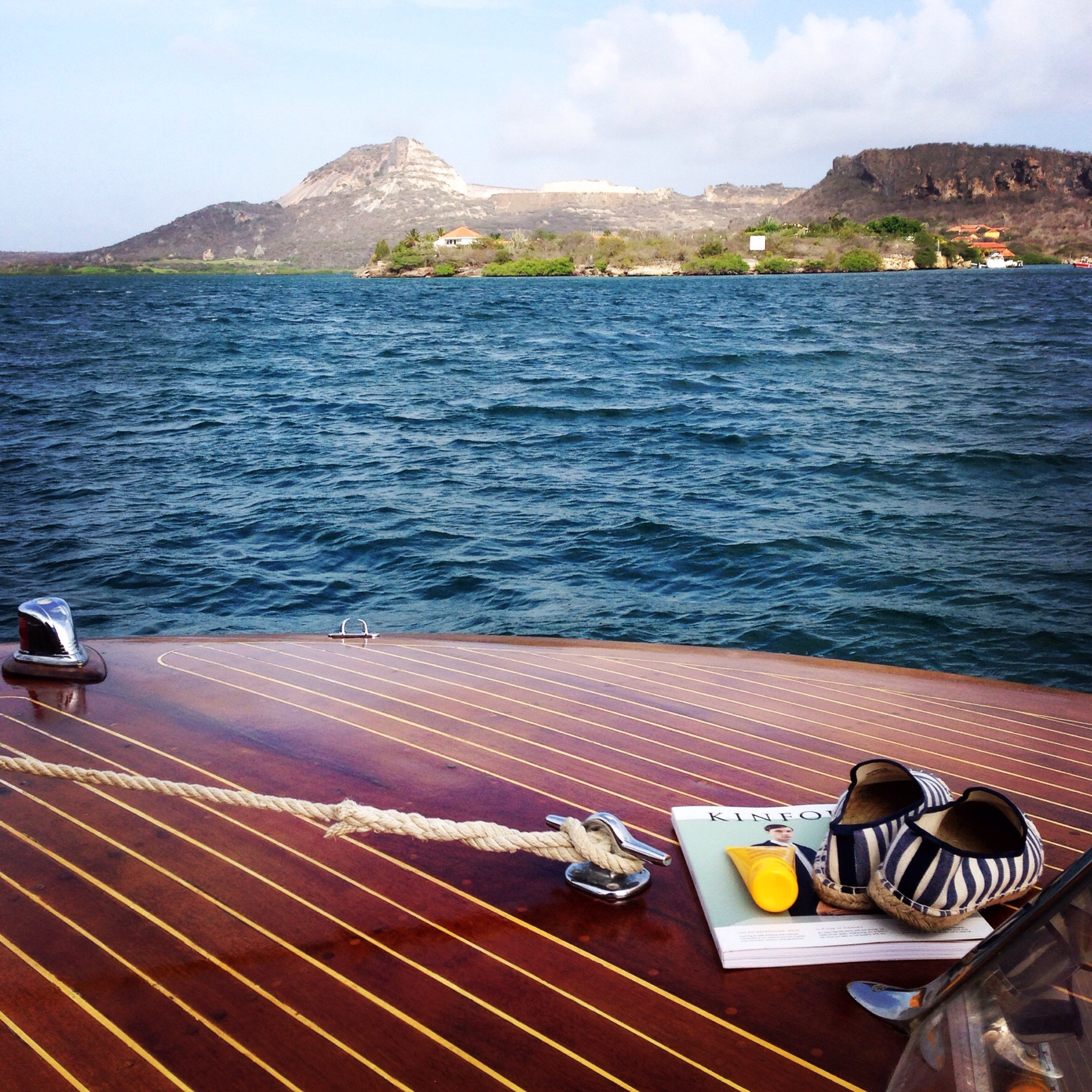 On the Saint. A lovely day in Curacao.