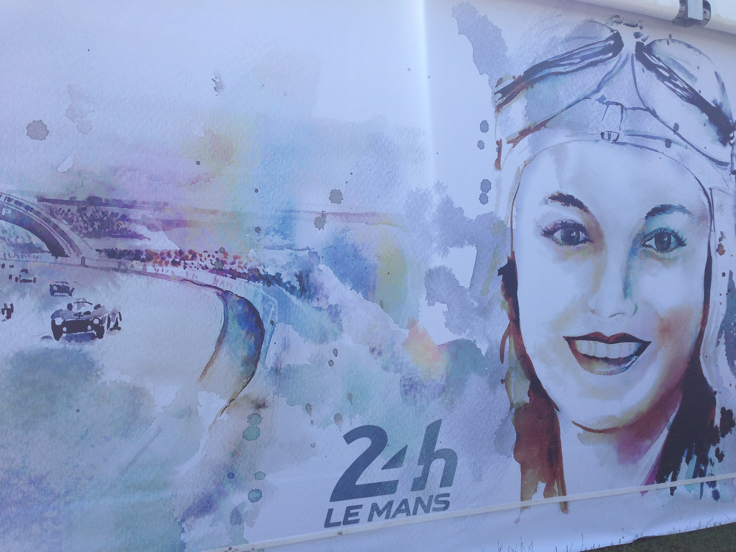Outside the Women's Pavilion at Le Mans 24h. Photo with my iPhone5.