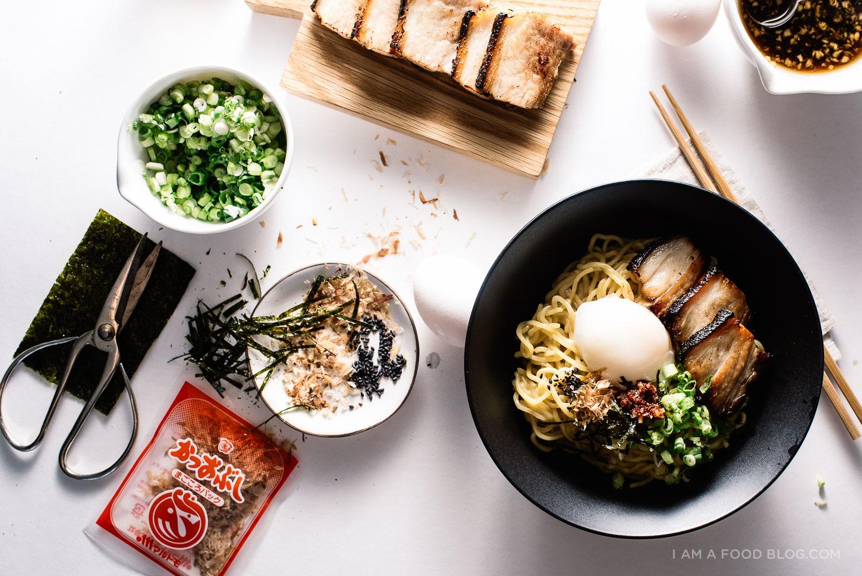 "Bacon and Egg Breakfast Ramen. The recipe via  ""I am a food blog""."