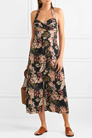 """Image via  Net-a-Porter : """"Zimmermann's breezy 'Curacao' dress is perfect for outdoor events, but we also like it for staying comfortable and cool while exploring markets on vacation""""."""
