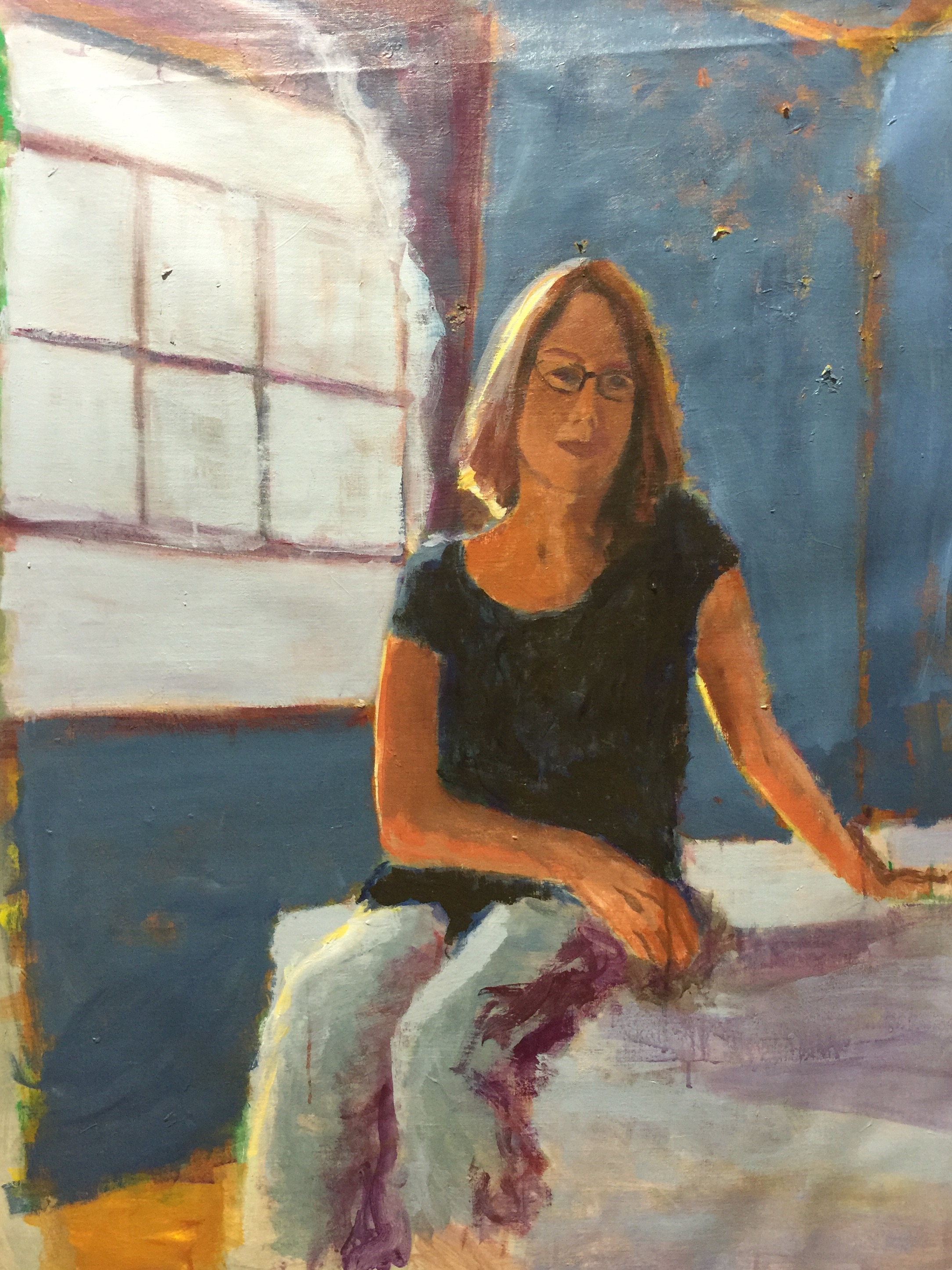 #workinprogress portrait of Amelia
