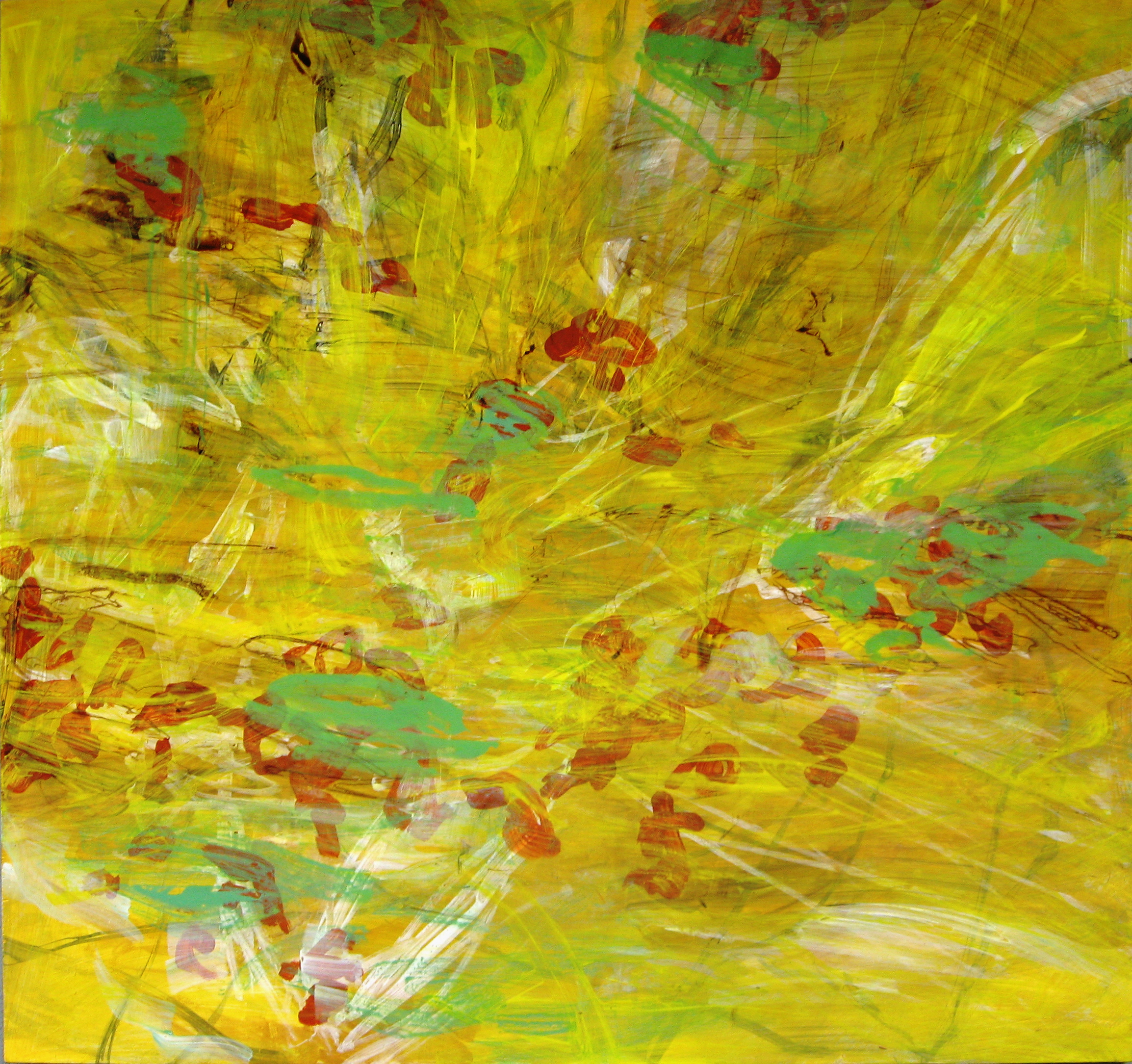 Sunlight, acrylic on wood, 2011, 52''x48''