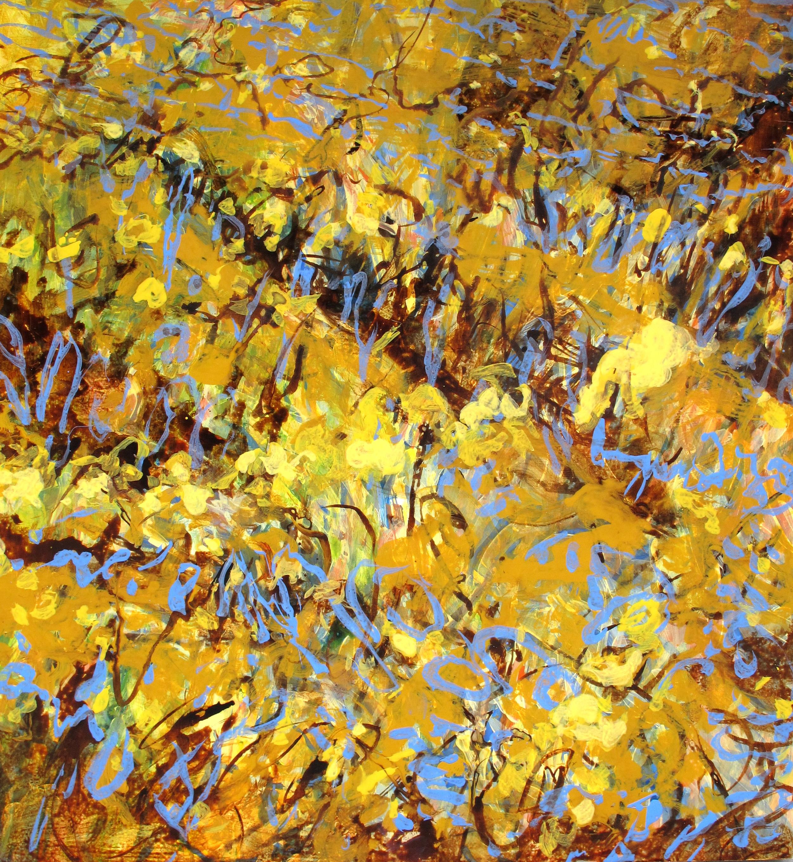 Vinyard, acrylic and ink on wood, 2011, 52''x48''