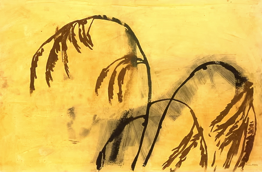 Grass 3, ink and pigment on mylar, 2009, 24''x36''