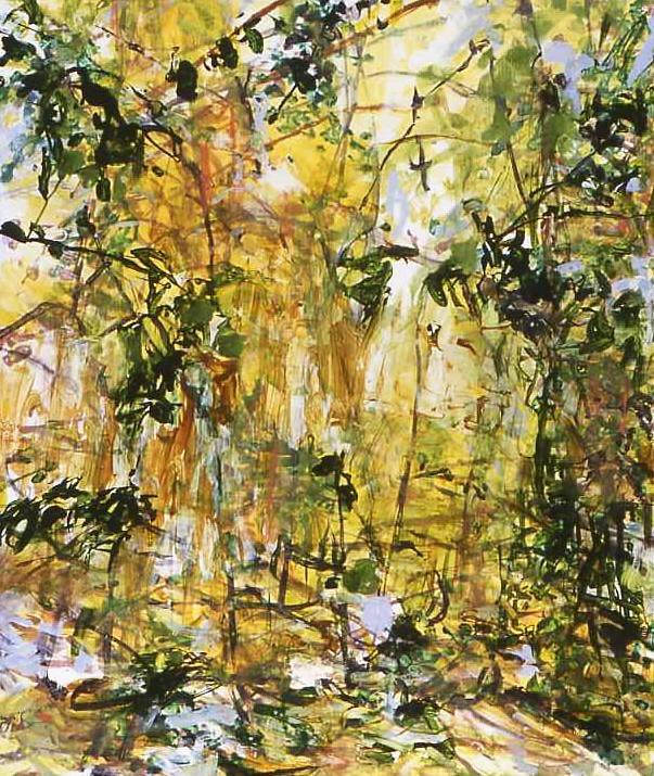 Awaken, acrylic and ink on wood, 2007, 48''x40''