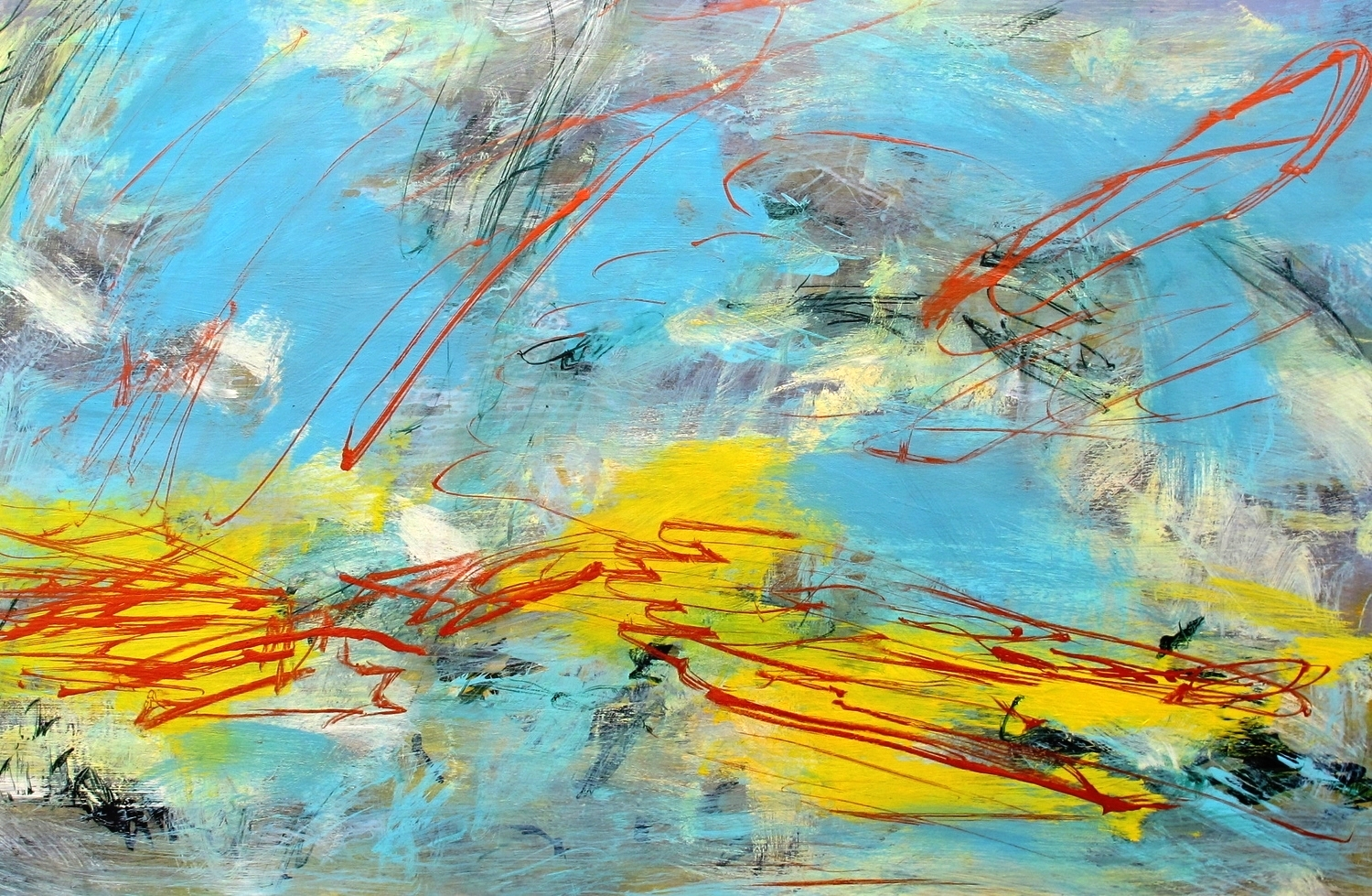 Atmosphere 9, acrylic on aluminum, 24''x36'', 2015