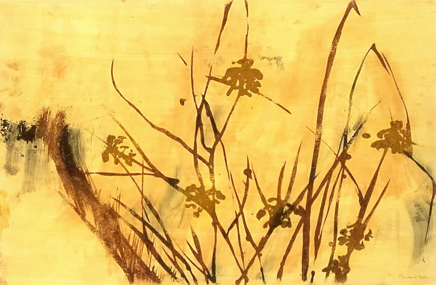 Grass 4, ink and pigment on mylar, 2009, 24''x36''