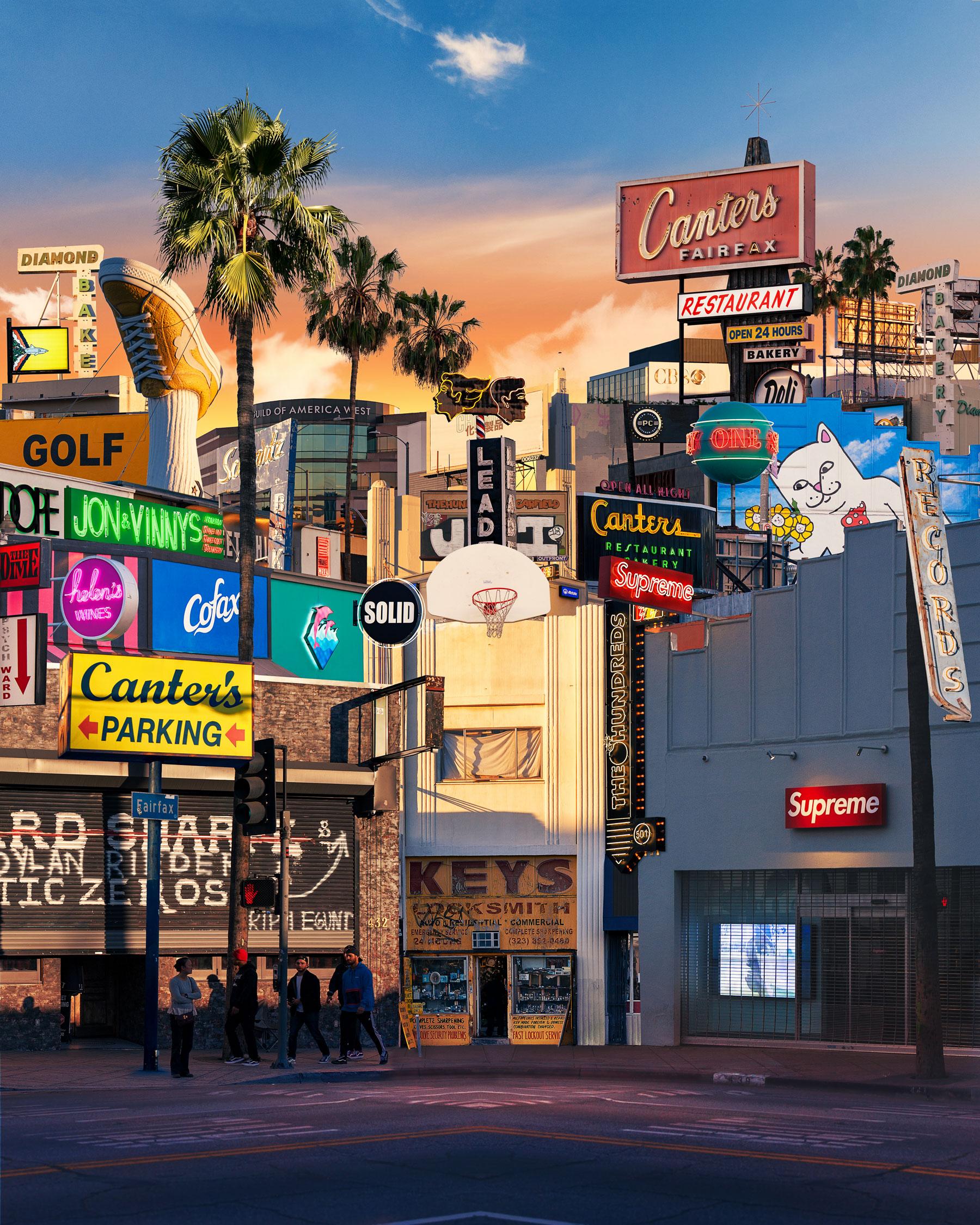 """Fairfax district"" Los Angeles, CA"