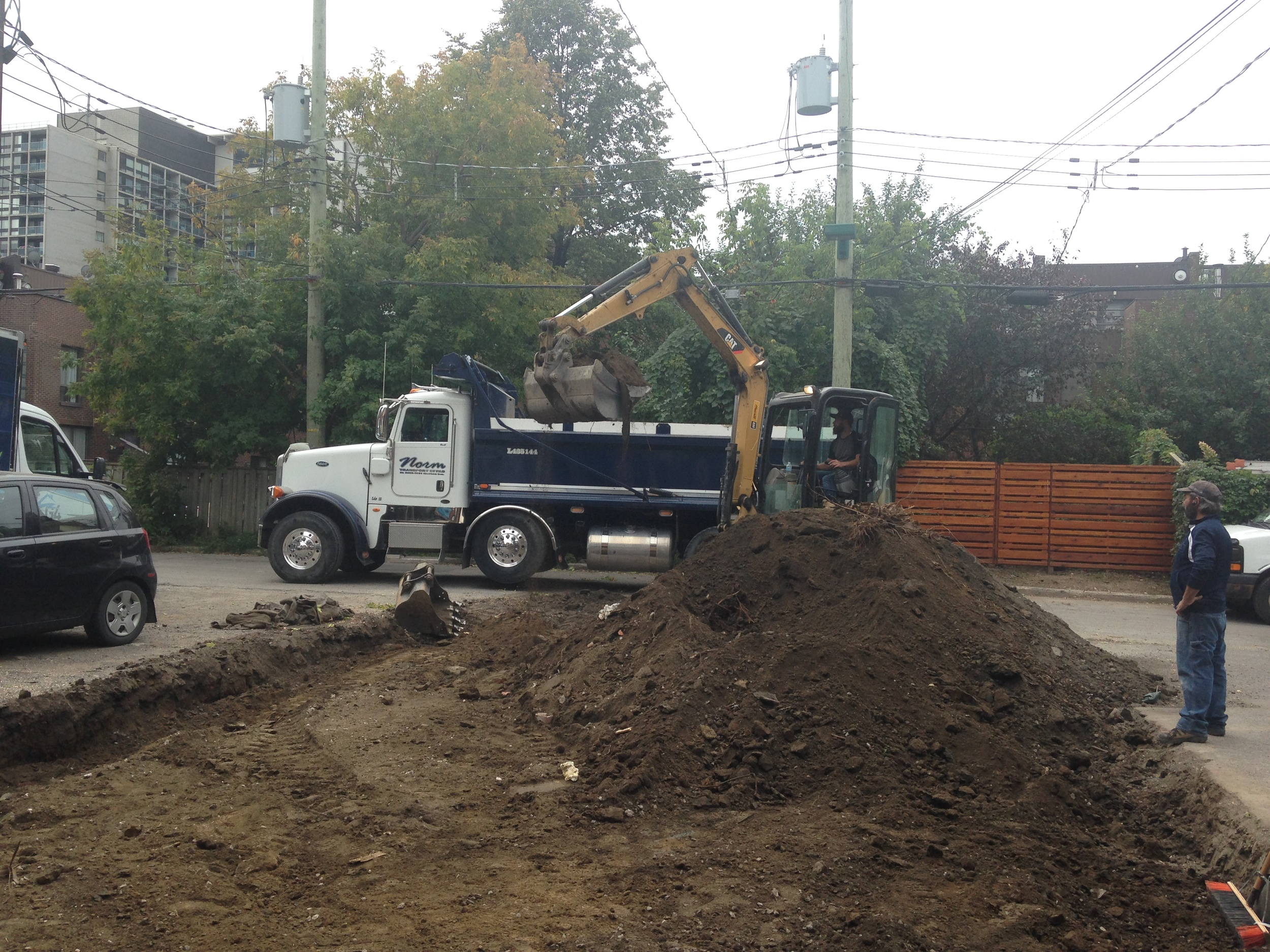 Bye, bye asphalt. Hello future garden...