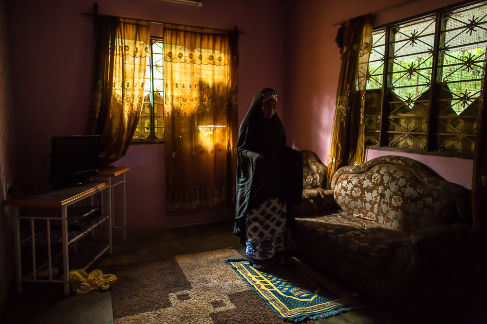 Habiba starts every day with morning prayers.