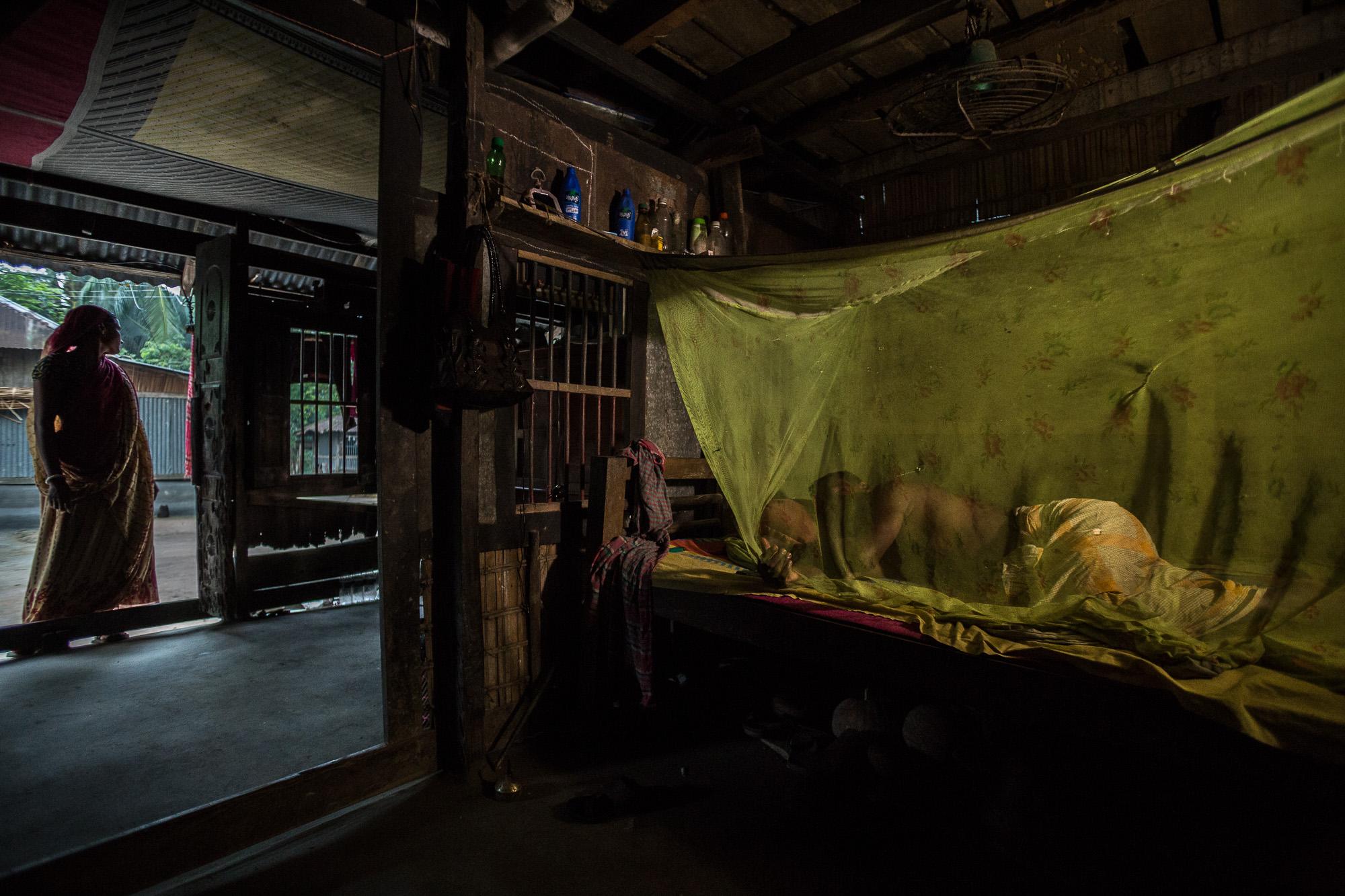 Tarani Kanto Shikari, 45,and his wife, Baby Shikari,wake up before dawn every morning to tend to their rice patties, cows, ducks, and vegetable garden in southern Bangladesh.