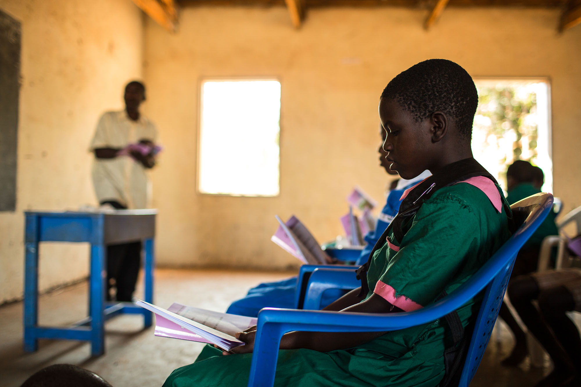 Wilfred's daughter, Joyce Wilfred, attends school near her house. Her dream is to become a nurse.Photo by Morgana Wingard.