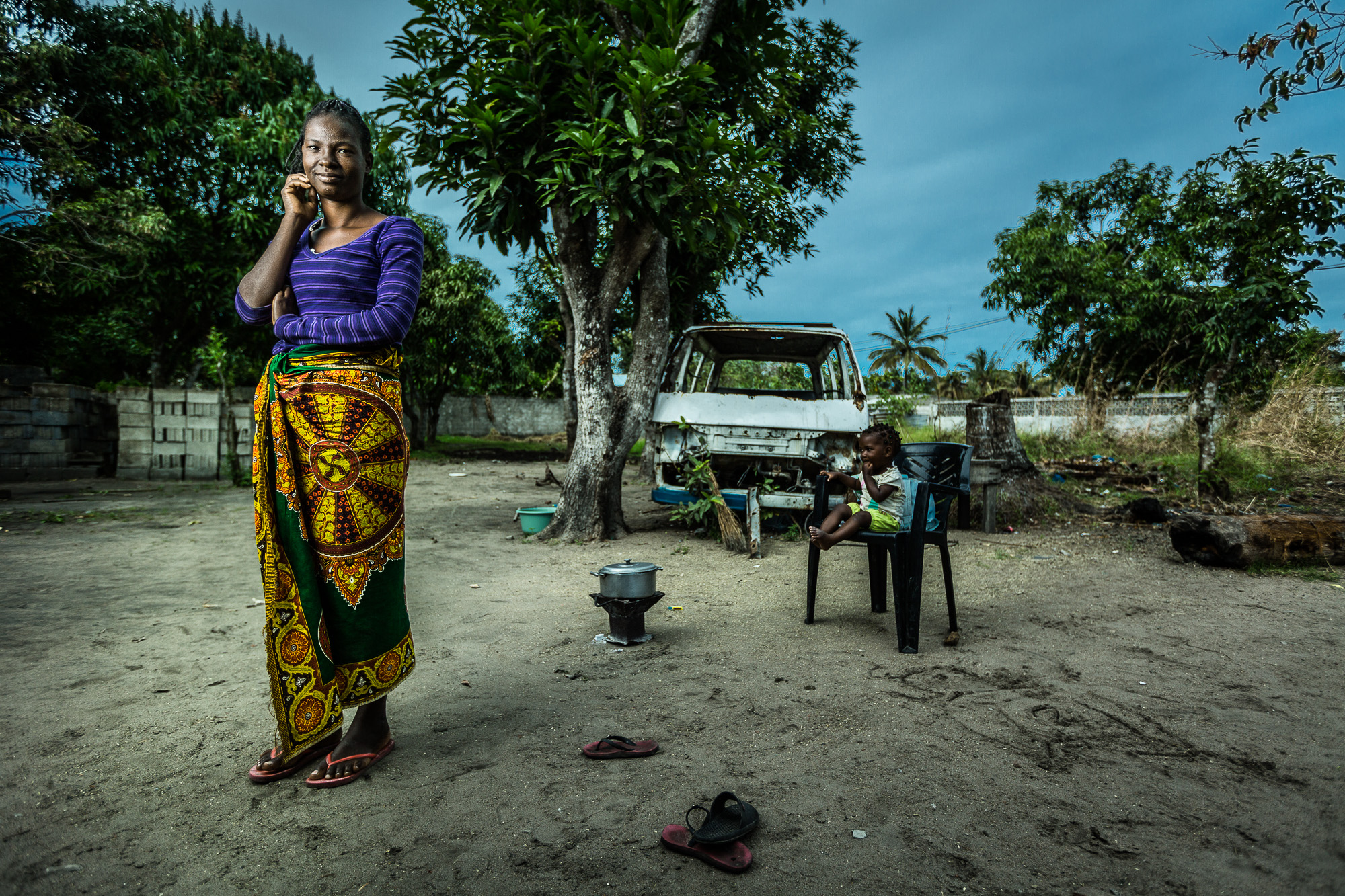 Salima, a sex worker in Mozambique, at her home in Beira.