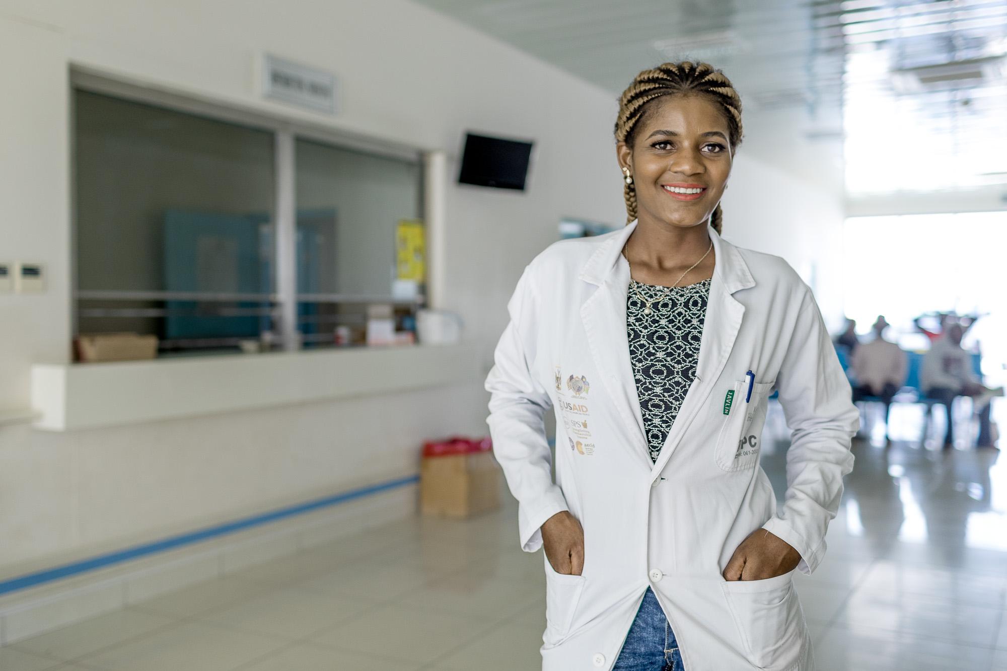 Elina Nantinda, 25, an assistant pharmacist
