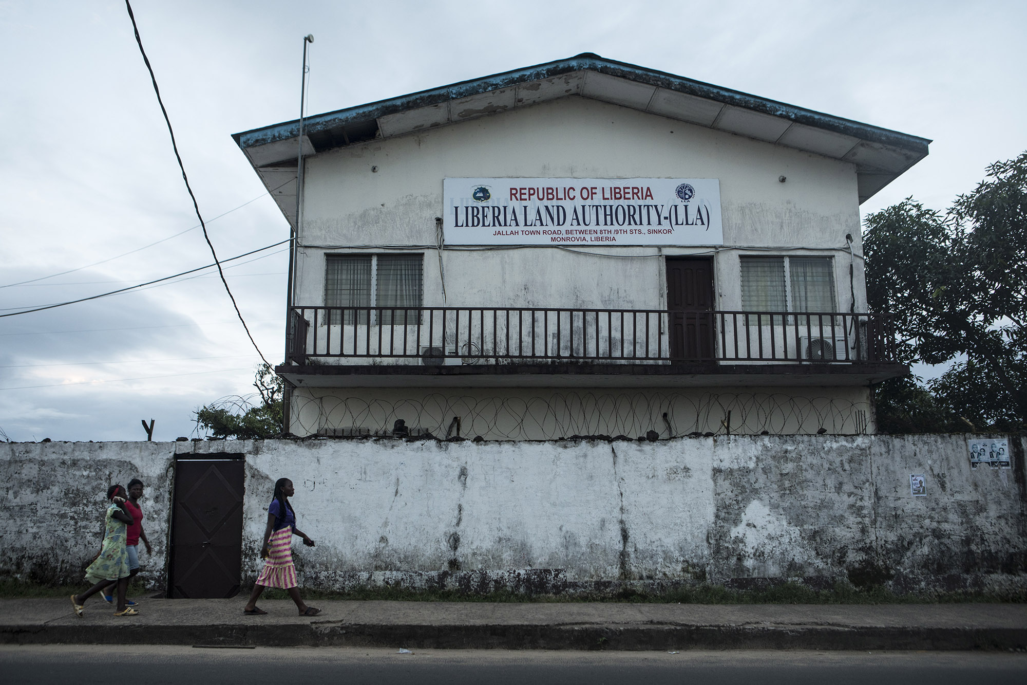 The Liberia Land Authority building located in Monrovia, Liberia.Photo by Sarah Grile.