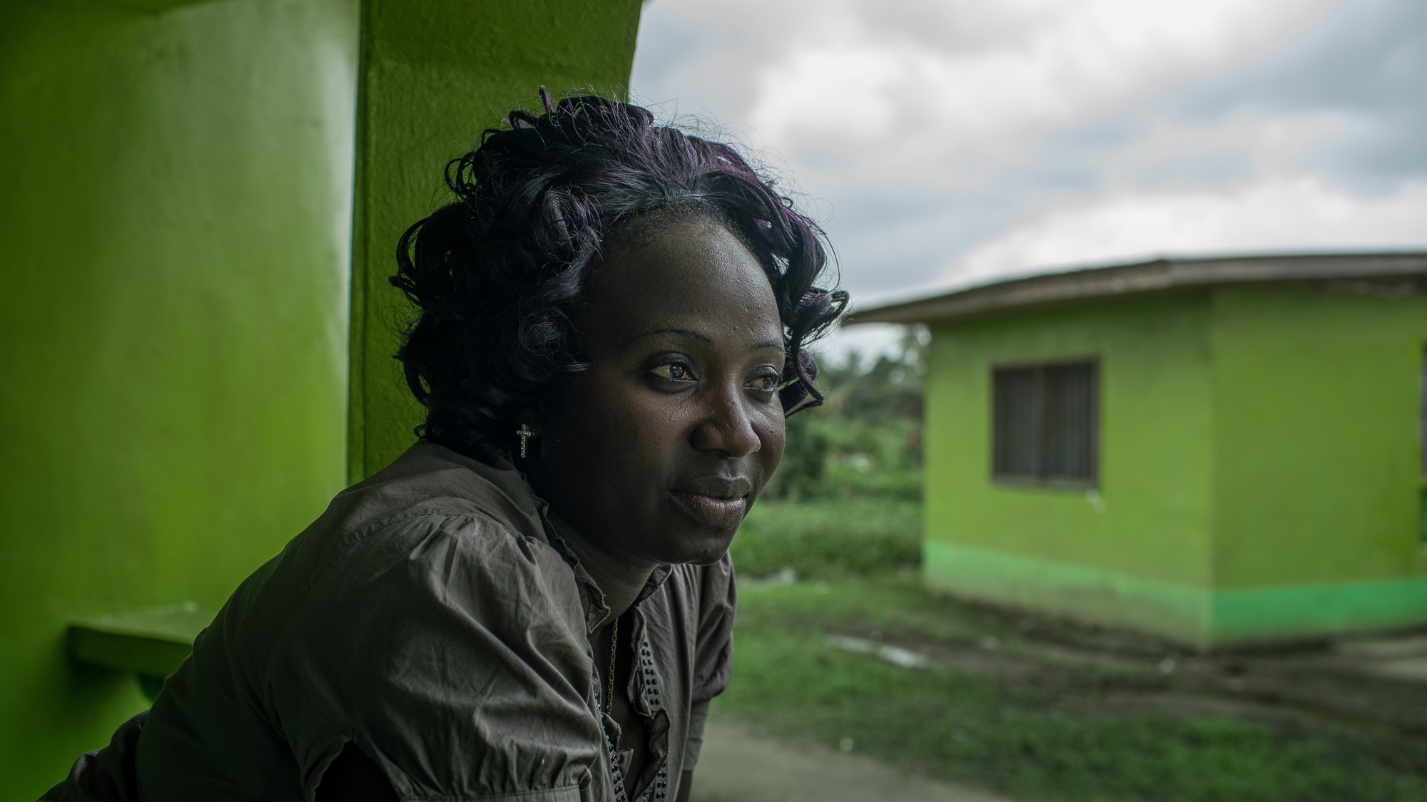 Wislyne S. Yarh Sieh at her home in Monrovia, Liberia