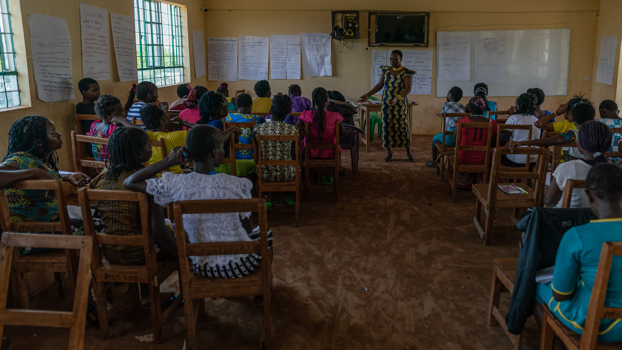 Adolescent girls attend week long workshops as part of an Altern