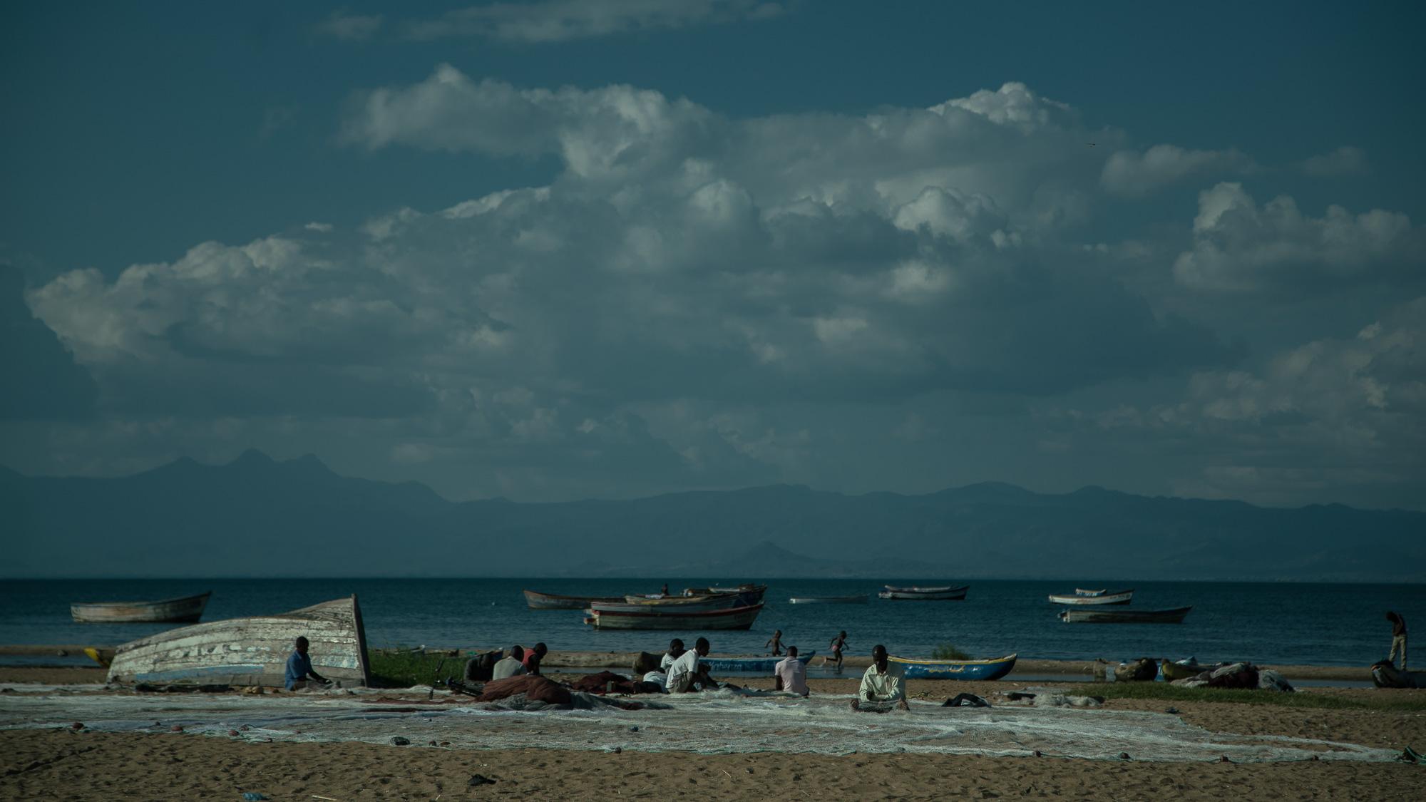 Fishermen an Nkopola Beach