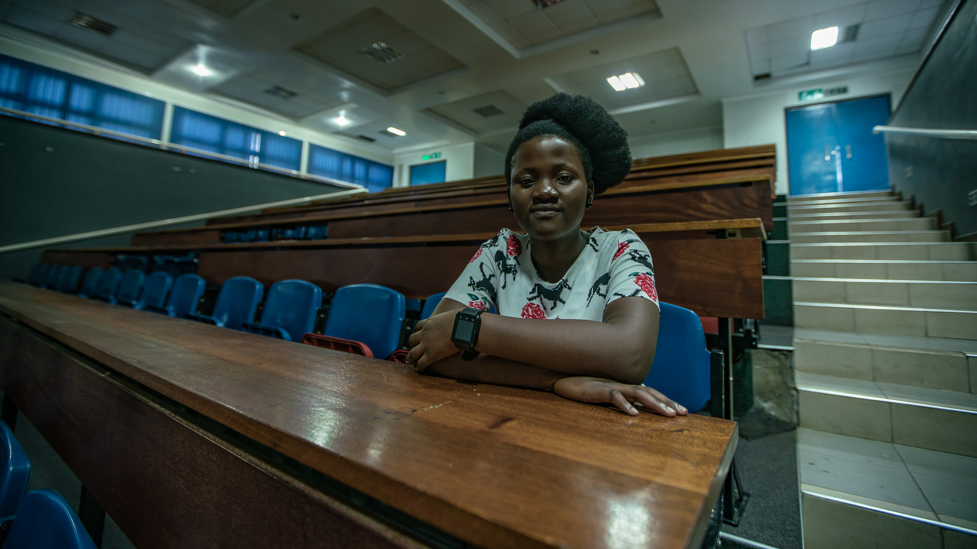 Class room at the University of Malawi, College of Medicine wher