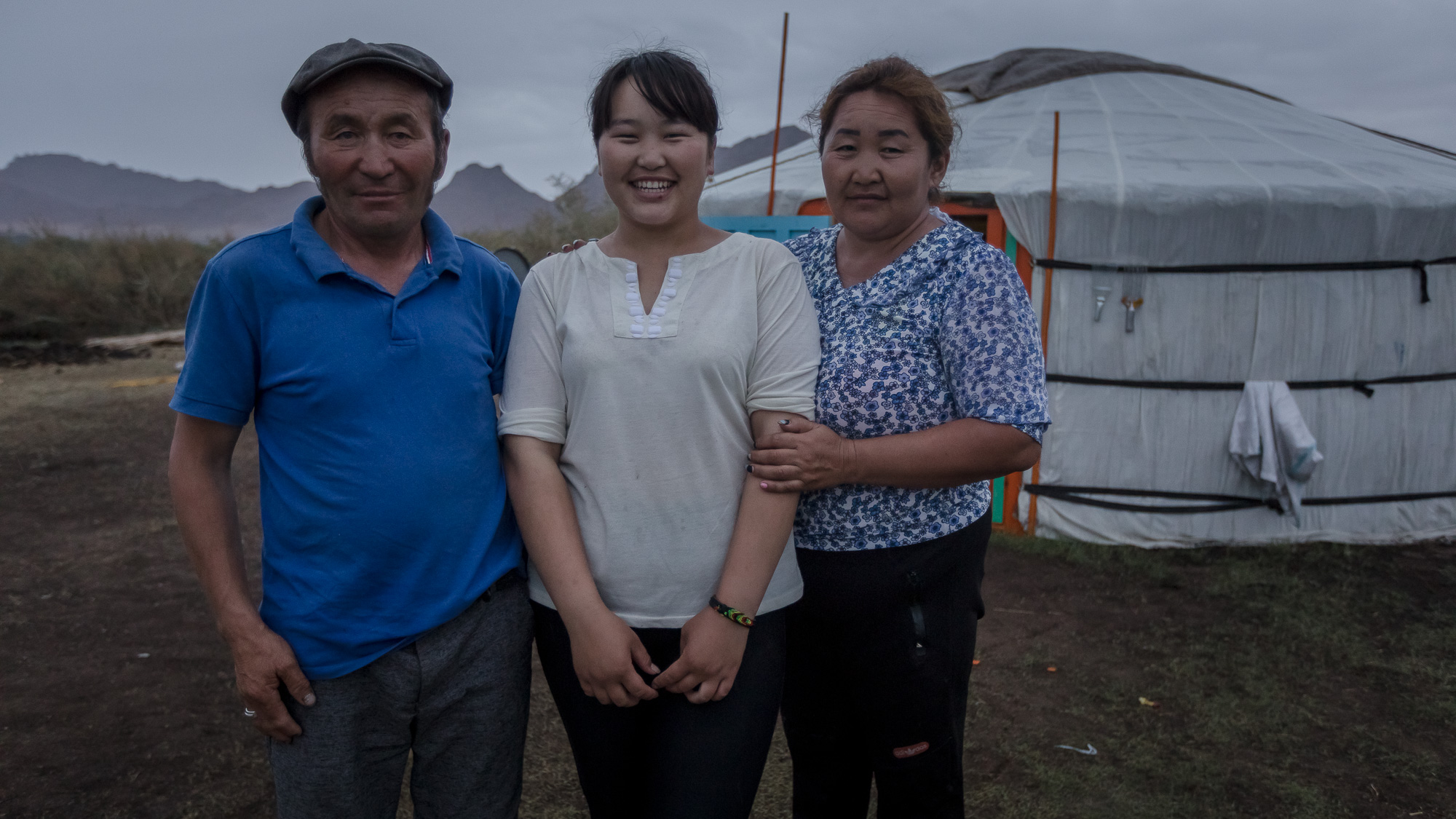 KHOVD, MONGOLIA - JUNE 13, 2018: Nuutsgee Lhagvadorj, 16, with her parents at home. Footage by Morgana Wingard for OGP