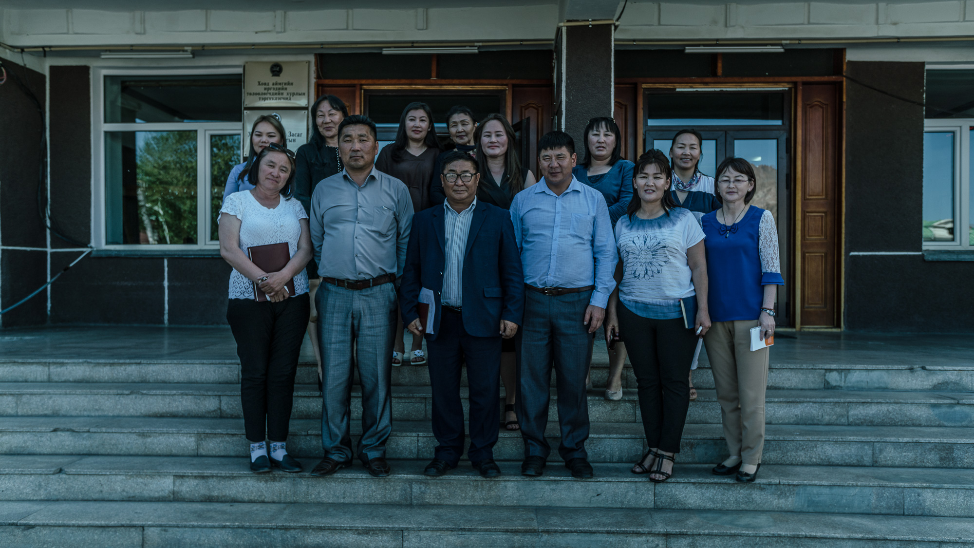 KHOVD, MONGOLIA - JUNE 14, 2018: A meeting of local stakeholders led by Mr. Narandorj (Deputy Head of Education Agency) in Khovd. Together, they worked with the local community  to improve the school services provided by the government to 10 schools. Footage by Morgana Wingard for OGP