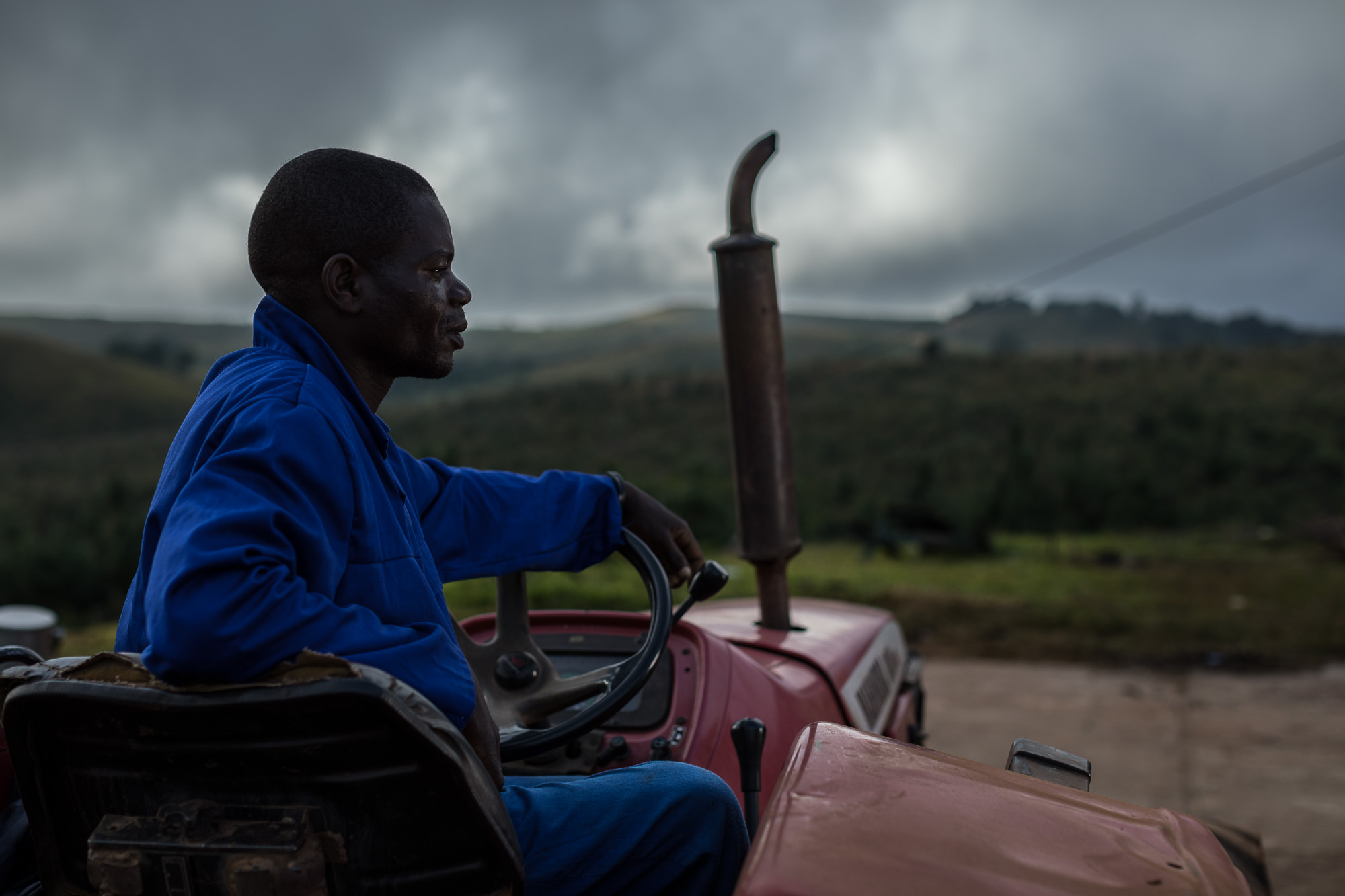 Raymond Nthala, a worker at Kawandama Hills Plantation (KHP)