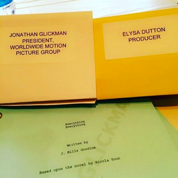 "The shooting script for the movie! I'll never get over the ""Based upon the novel by"" line!!"