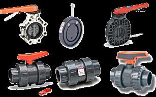 Includes ball valves, ball checks, spring checks, wafer checks, and butterfly valves.