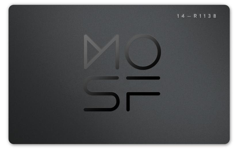 2015 MOSF Membership Card