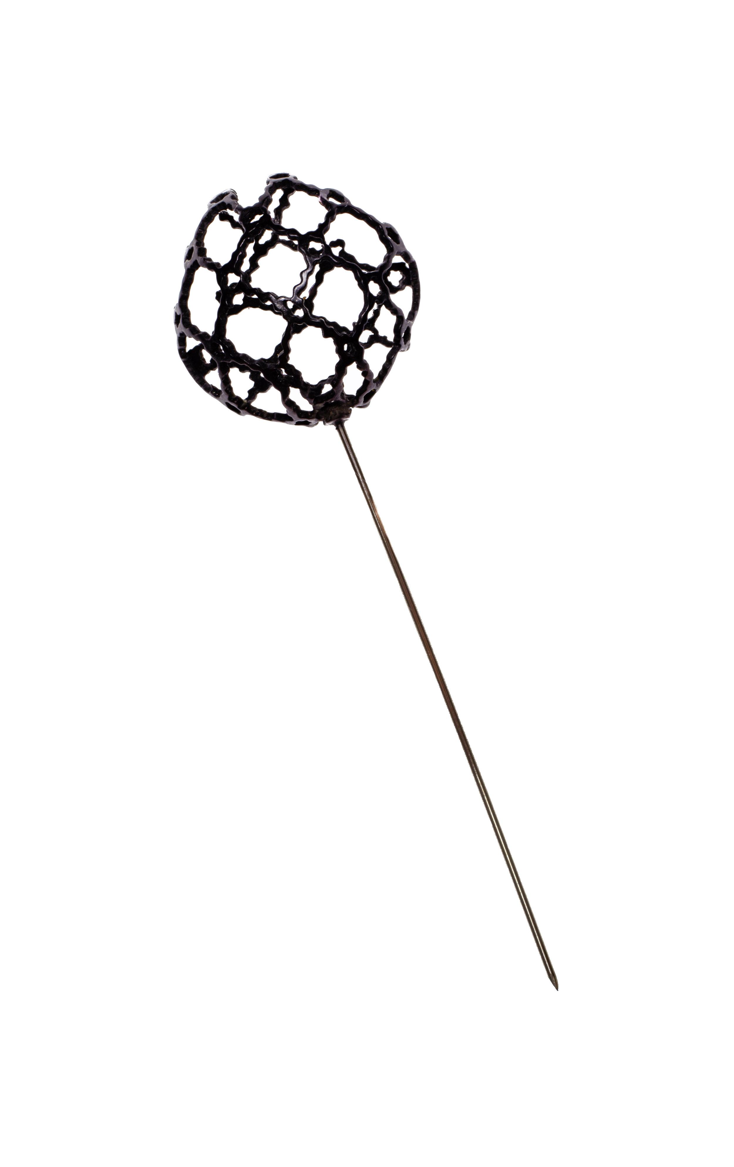Oxidized Lapel Pin