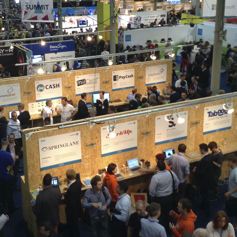 Startup exhibition area in the RDS
