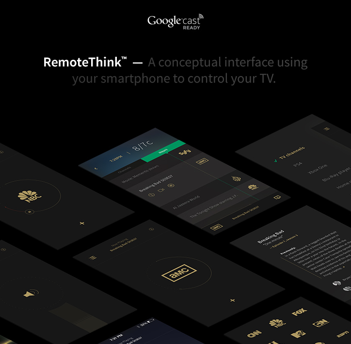 Googlecast RemoteThink by Mathieu Boulet