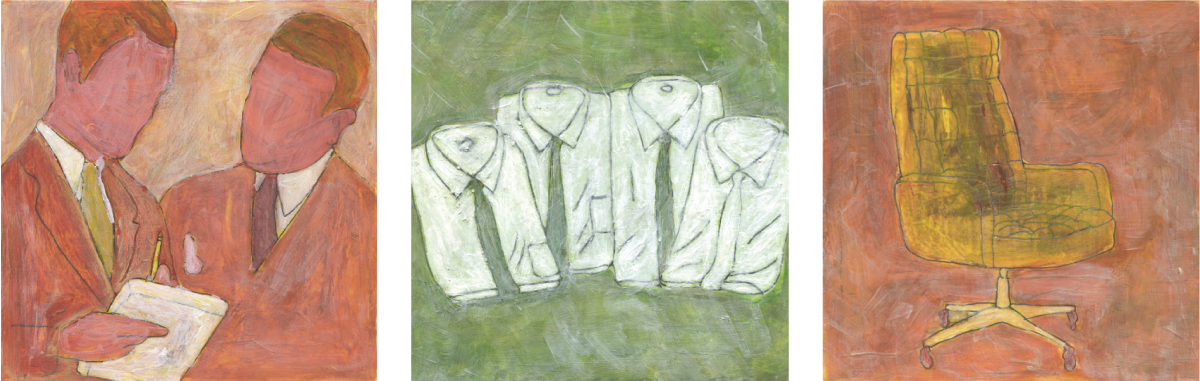 Men at Work  A series of mixed media illustrations