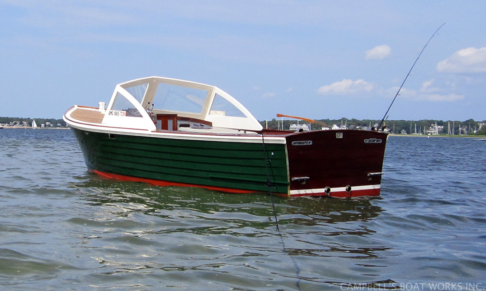 Refinished Mackenzie Cuttyhunk off of Bassett's Island in Bourne